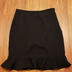 Spiegel's Together Pencil Skirt with Ruffled Hem